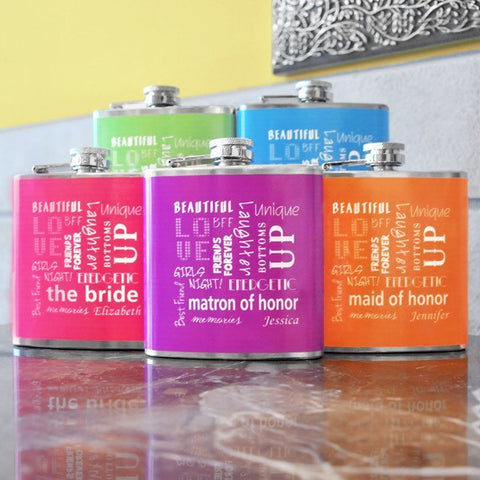 Bridesmaid Color Flask