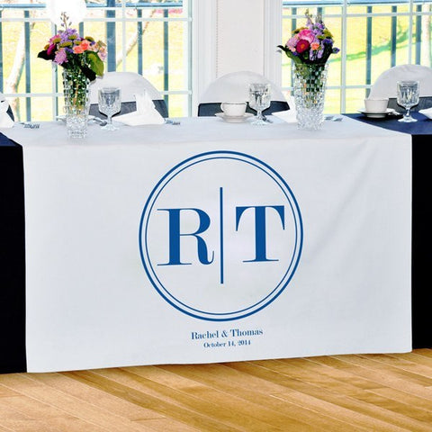 Circle Monogram Table Runner