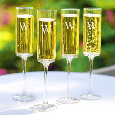 Contemporary Champagne Flutes (Set of 4)