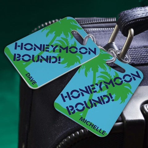 Couples Sojourn Luggage Tag - Honeymoon