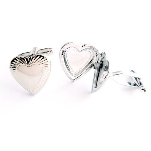 Dashing Cuff Links with Personalized Case - Heart