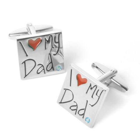 Dashing Cuff Links with Personalized Case - Love Dad