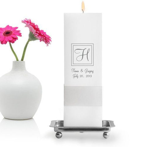 Empire Unity Candle Set - Classic Monogram Z23