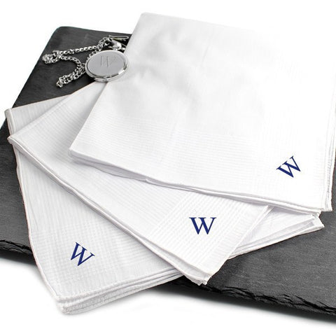 Hand Rolled 3pc. Men's Personalized Hankies