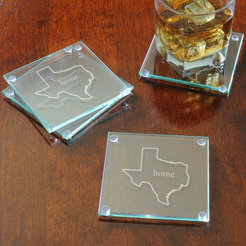 Home State Glass Coasters (Set of 4)