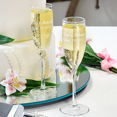 Ivory Beach Champagne Flutes