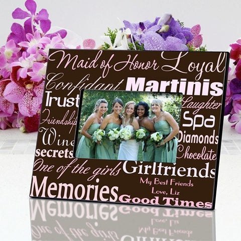 Maid of Honor Frame - Pink/Brown