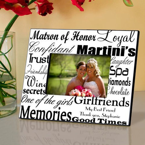 Matron of Honor Frame - Black On White