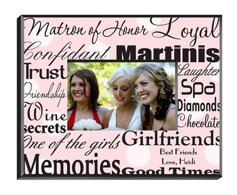 Matron of Honor Frame - Pink Dots