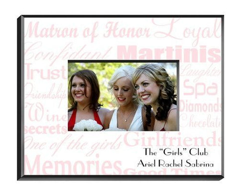 Matron of Honor Frame - Pink on White