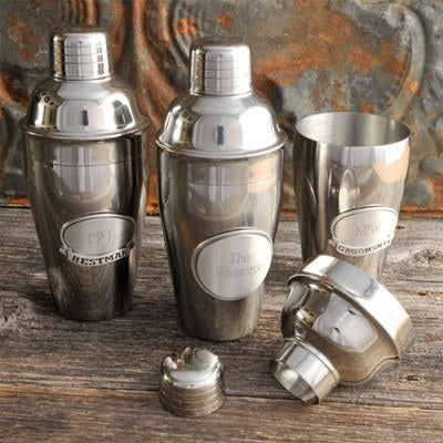 Mixologist Cocktail Shaker w/Pewter Medallion