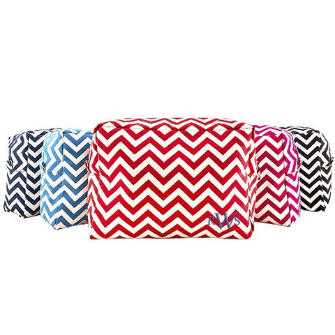 Navy Chevron Spa Bag