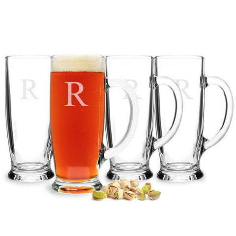 Personalized Craft Beer Mugs(Set of 4)