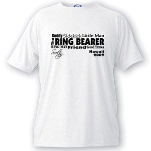 Text Series Ring Bearer T-shirt