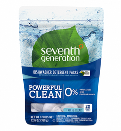 Seventh Generation - Dishwasher Packs - Free & Clear (20 pack)