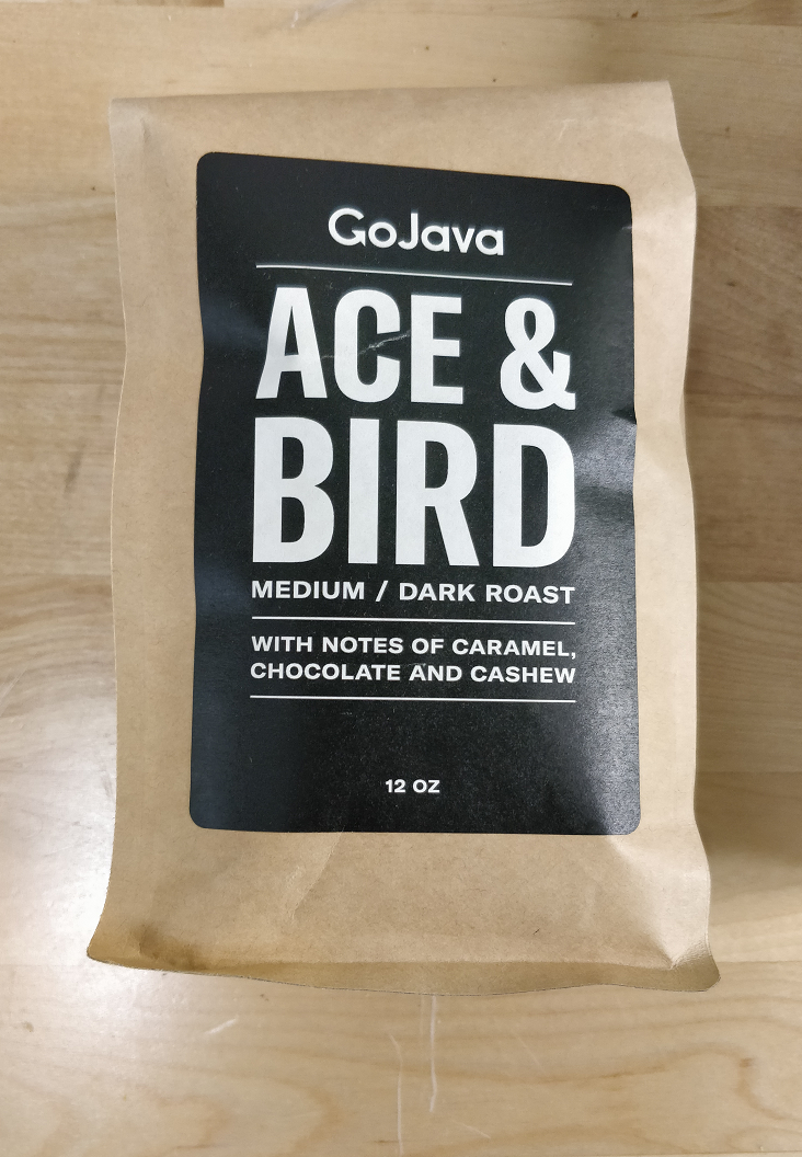 GoJava - Whole Bean - Ace & Bird -Medium / Dark Roast - (12oz)