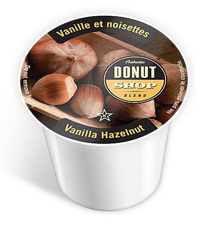 Authentic Donut Shop - Vanilla Hazelnut  (24 pack) - Coffee - Pod - Recycling