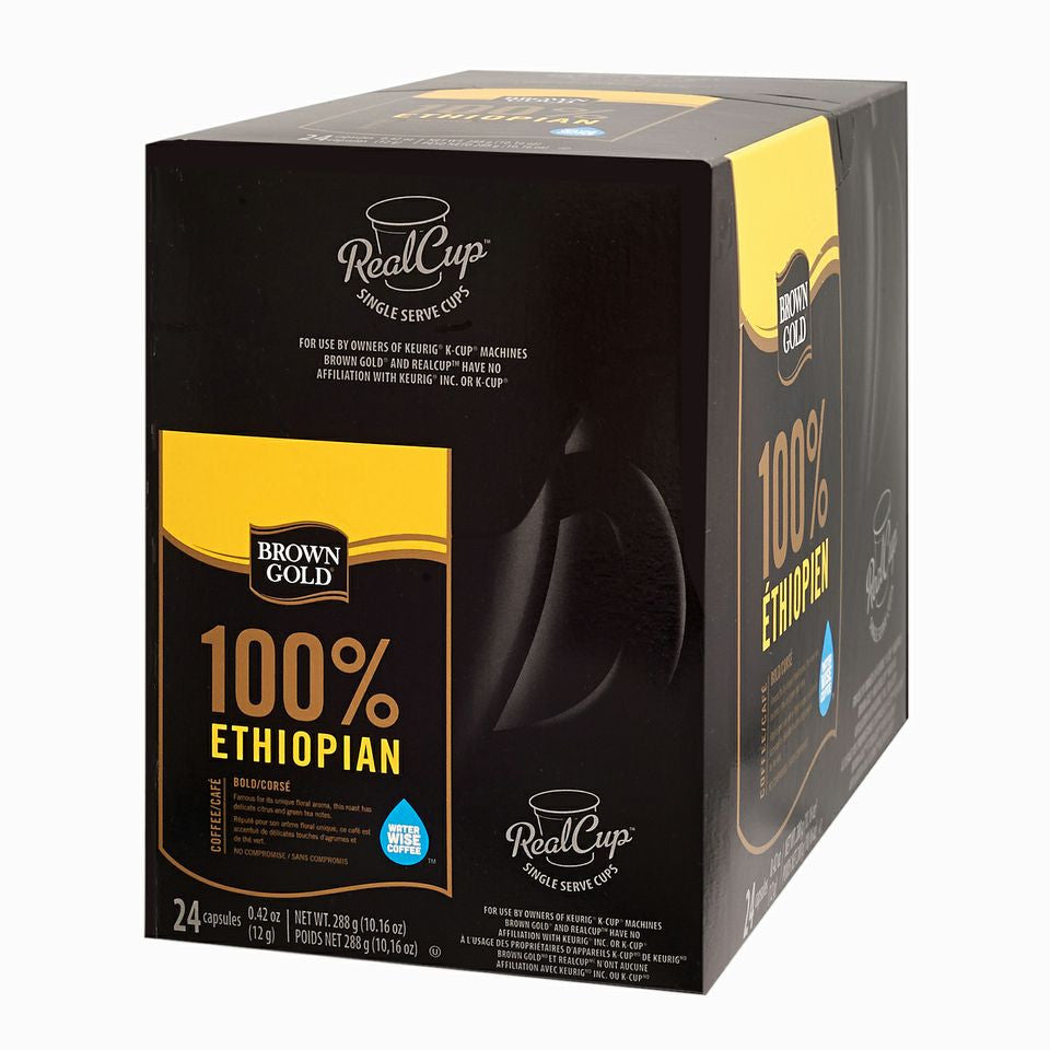 Brown Gold - 100% Ethiopian  (24 pack) - Coffee - Pod - Recycling