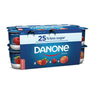 Danone - Creamy Strawberry, Raspberry, Peach (16x100g)