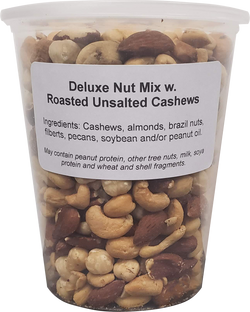 Deluxe Mixed Nuts - No Salt, No Peanuts ( 1 X 32oz Tub )