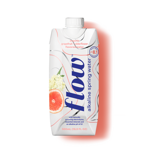 Flow - Alkaline Spring Water - Grapefruit + Elderflower (6 x 500ml)