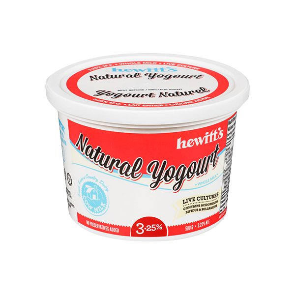 Hewitt's Dairy - Whole Plain Yogurt - 3.25% (750g)