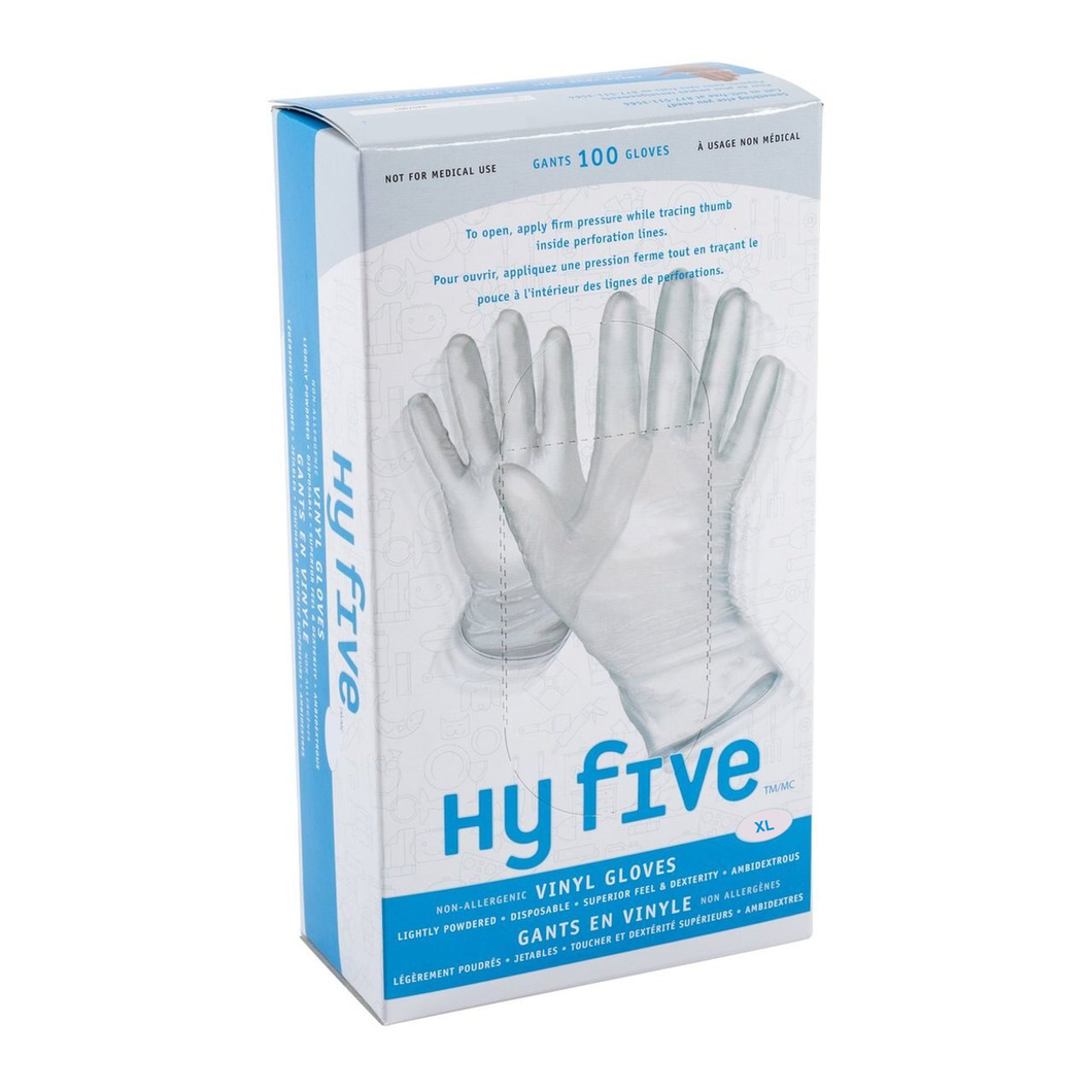 Gloves, Vinyl - XL - Powder Free (100 Pack)