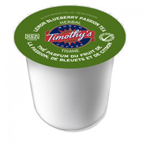 Timothy's - Lemon Blueberry Passion Tea (24 pack) - Keurig - Pod - Recycling