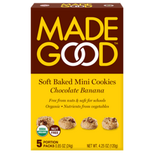 Load image into Gallery viewer, Made Good - Soft Baked Mini Cookies Chocolate Banana (5x24g)
