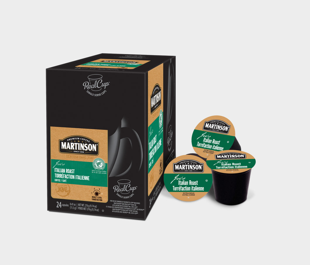 Martinson - Italian Roast  (24 pack) - Coffee - Pod - Recycling