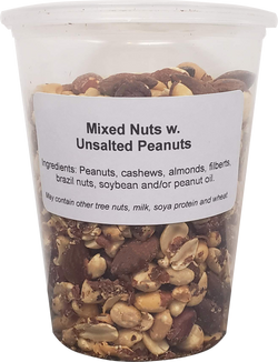 Mixed Nuts with Peanuts - No Salt ( 1 X 32oz Tub)