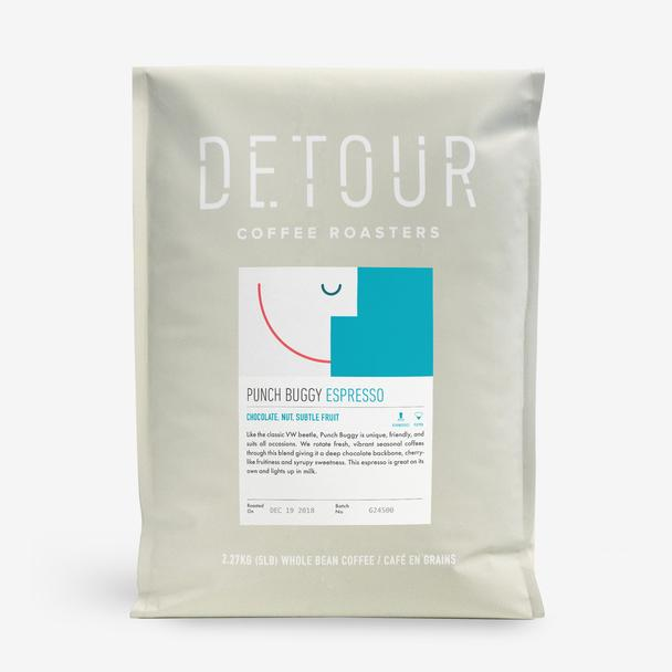 Detour - Whole Bean - Punch Buggy Espresso - LARGE (5 POUNDS)