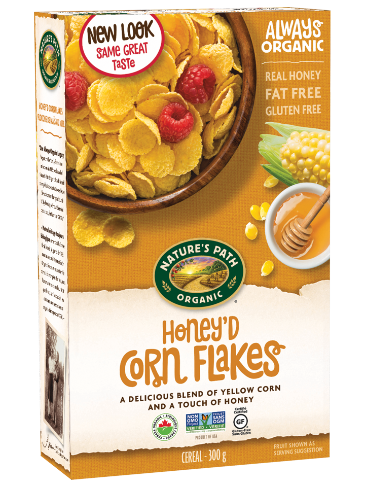 Nature's Path Cereal - Honey'd Corn Flakes (375g)