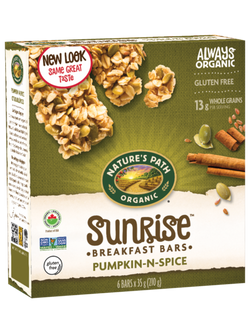 Nature's Path - Sunrise Breakfast Bars - Pumpkin-N-Spice (6x35g)
