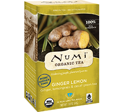 Numi Organic Tea - Ginger Lemon Decaf (16 bags)