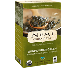 Numi Organic Tea - Gunpowder Green (18 bags)