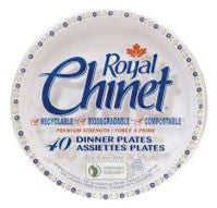 Royal Chinet - Large Paper Plates 10.38in (40 pack)