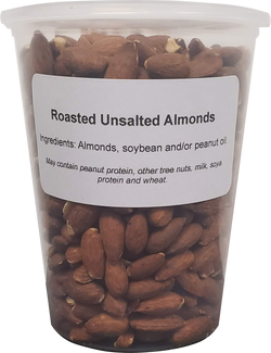 Almonds - Roasted, No Salt  ( 1 X 32oz Tub )