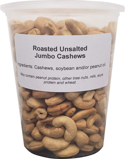 Cashews - Roasted, No Salt ( 1 X 32oz Tub )