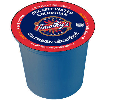 Timothy's - Decaf Colombian  (24 pack) - Keurig - Pod - Recycling