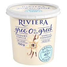 Maison Riviera - Vanilla, Less Sugar, Greek Yogurt (750g)