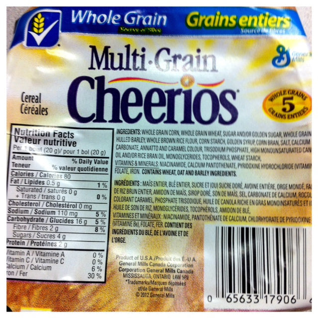 Cheerio: Multigrain Single Serve (96x20g)