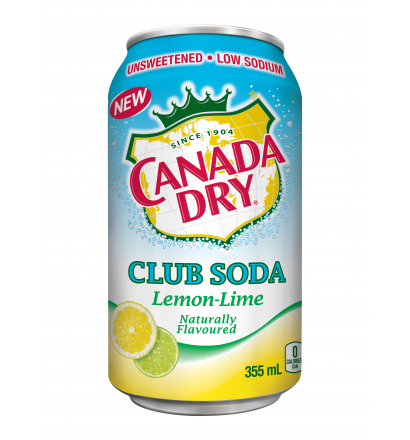 Canada Dry Club Soda - Lemon-Lime  (12x355ml)
