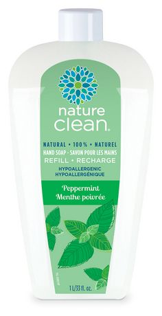 Nature Clean - Liquid Hand Soap Refill - Peppermint (1 Litre)