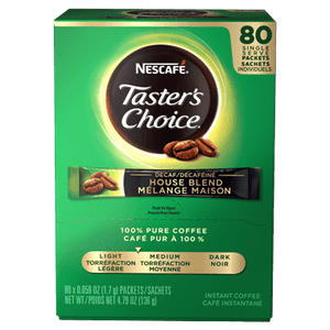 Nescafe Tasters Choice House Blend DECAF (single serve 80 X 1.7g)