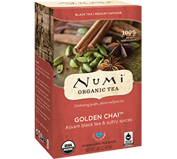 Numi Organic Tea - Golden Chai (18 bags)