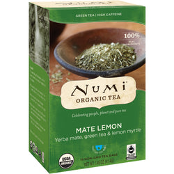 Numi Organic Tea - Mate Lemon (18 bags)