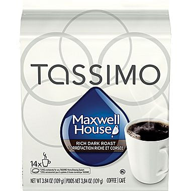 Maxwell House - Dark (14 pack) - Tassimo - Pod - Recycling