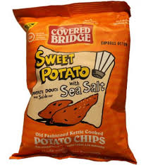 Covered Bridge Kettle Chips - Sweet Potato with Sea Salt (24x28g)