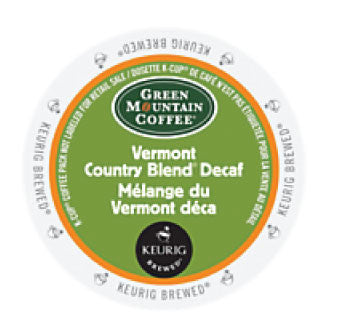 GMCR - Vermont Country Decaf  (24 pack) - Coffee - Pod - Recycling